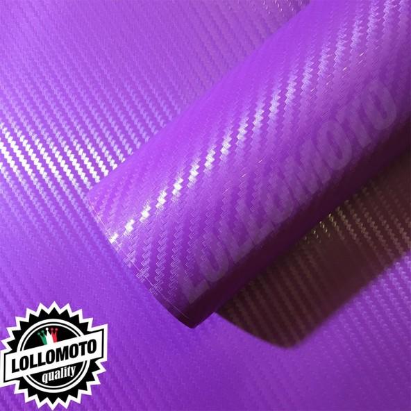 Carbonio 3D Viola Pellicola Adesiva Rivestimento Auto Car Wrapping