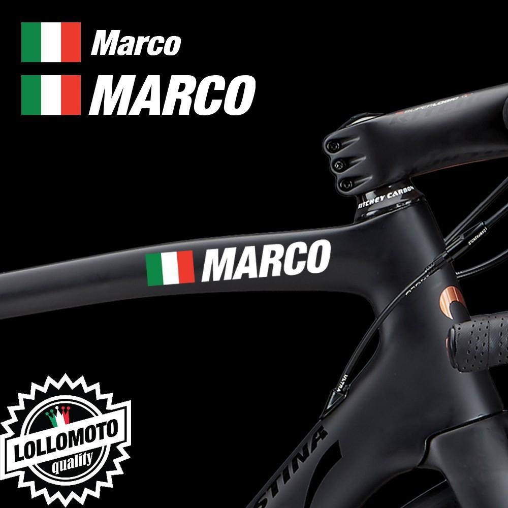 Kit 2 pz Adesivi Nome Ciclista BICI Casco Personalizzabile Decal Intagliati Stickers