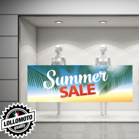 Adesivo Saldi BIG Vetrofania Summer Sales Allestimento Vetrine Estate Adesivi Stickers Decal
