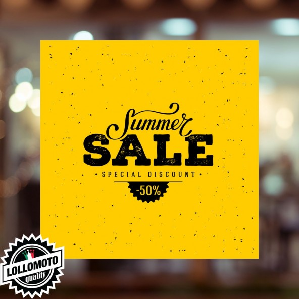 Adesivo Saldi FLASH Vetrofania Summer Sales Allestimento Vetrine Estate Adesivi Stickers Decal
