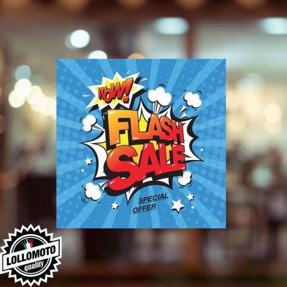 Adesivo Saldi FINAL Vetrofania Summer Sales Allestimento Vetrine Estate Adesivi Stickers Decal