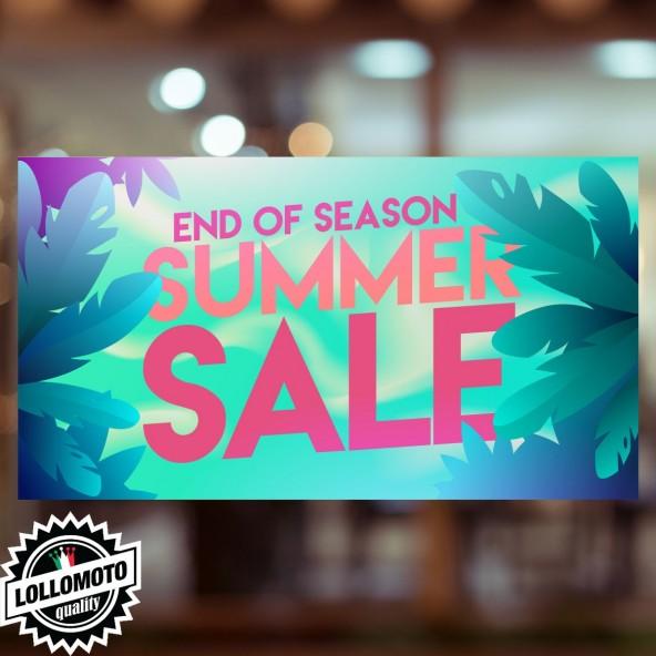 Adesivo Saldi CRAZY Vetrofania Summer Sales Allestimento Vetrine Estate Adesivi Stickers Decal
