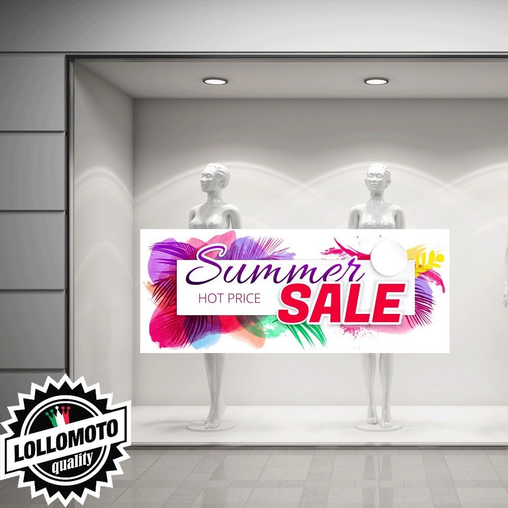 Adesivo Saldi CLEARANCE Vetrofania Summer Sales Allestimento Vetrine Estate Adesivi Stickers Decal