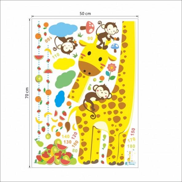 Metro Cameretta Wall Stickers Adesivo Murale Arredamento da Muro Bambini Zoo Animali Savana Wall