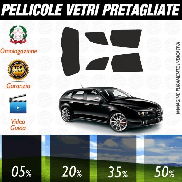 Alfa Romeo 159 5P 06-17 Pellicole Oscuramento Vetri Posteriori Auto Pre Tagliate a Misura