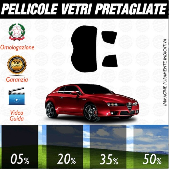 Alfa Romeo 159 Sw 05-17 Pellicole Oscuramento Vetri Posteriori Auto Pre Tagliate a Misura