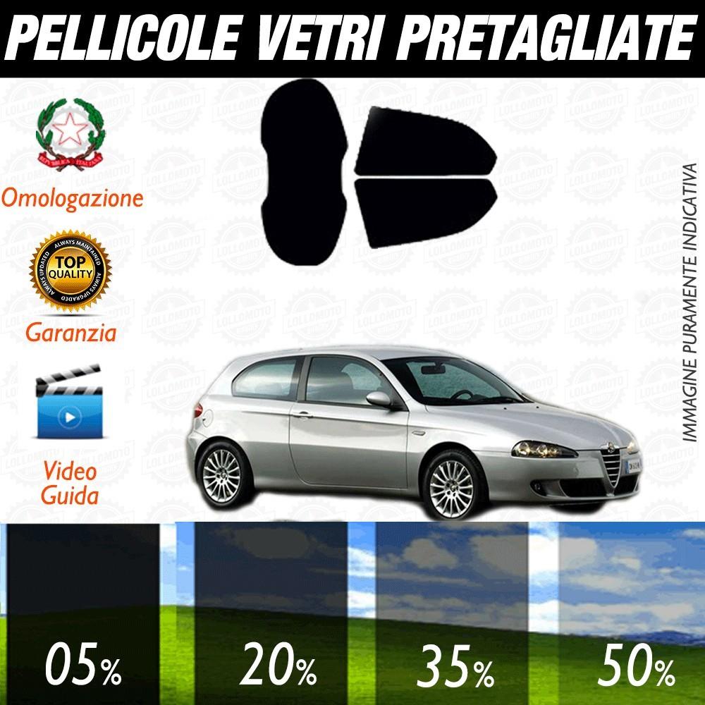 Alfa Romeo 147 3P 06-16 Pellicole Oscuramento Vetri Posteriori Auto Pre Tagliate a Misura