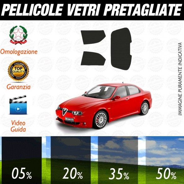 Alfa Romeo 147 3P 01-05 Pellicole Oscuramento Vetri Posteriori Auto Pre Tagliate a Misura