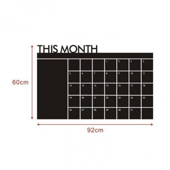 Adesivo Murale Calendario Lavagna Wall Stickers Arredamento da Muro Interior Design