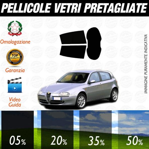 Alfa Romeo 147 5P 06-16 Pellicole Oscuramento Vetri Posteriori Auto Pre Tagliate a Misura