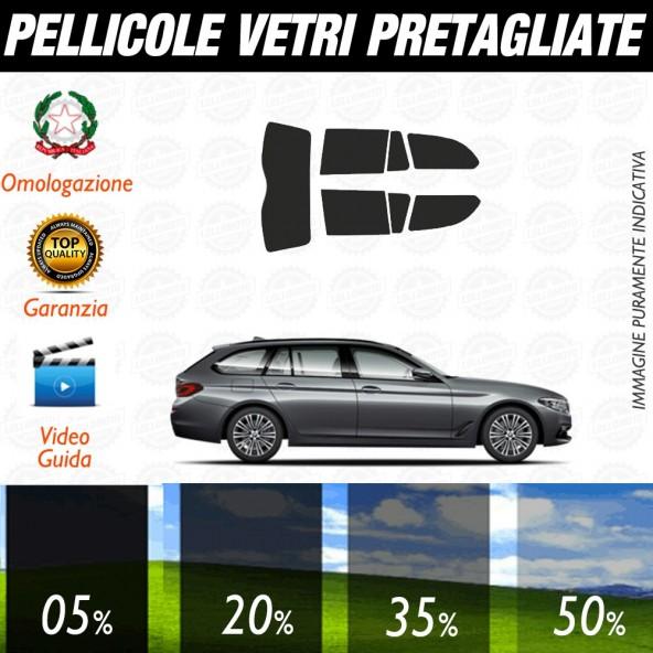Bmw Serie 5 Berlina 04-10 Pellicole Oscuramento Vetri Posteriori Auto Pre Tagliate a Misura