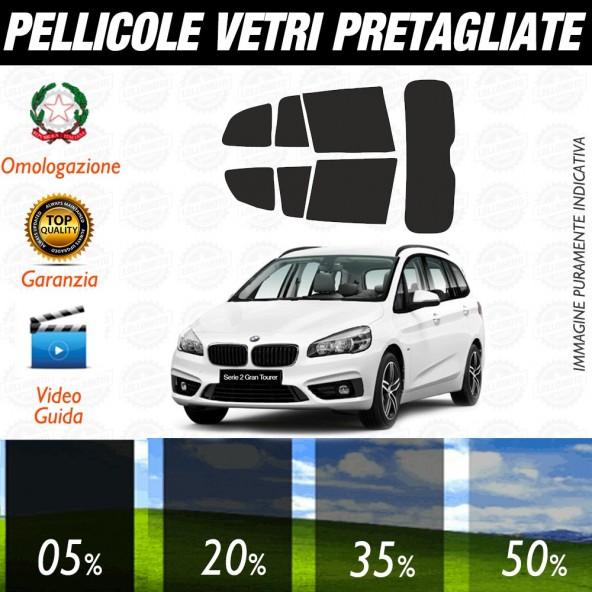 Bmw Serie 2 Active Tourer 14-16 Pellicole Oscuramento Vetri Posteriori Auto Pre Tagliate a Misura