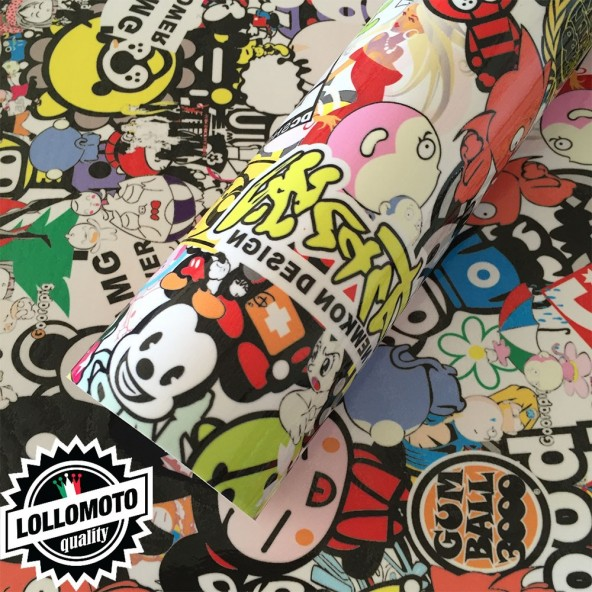 Sticker Bomb 01 Pellicola Adesiva Rivestimento Auto Car Wrapping