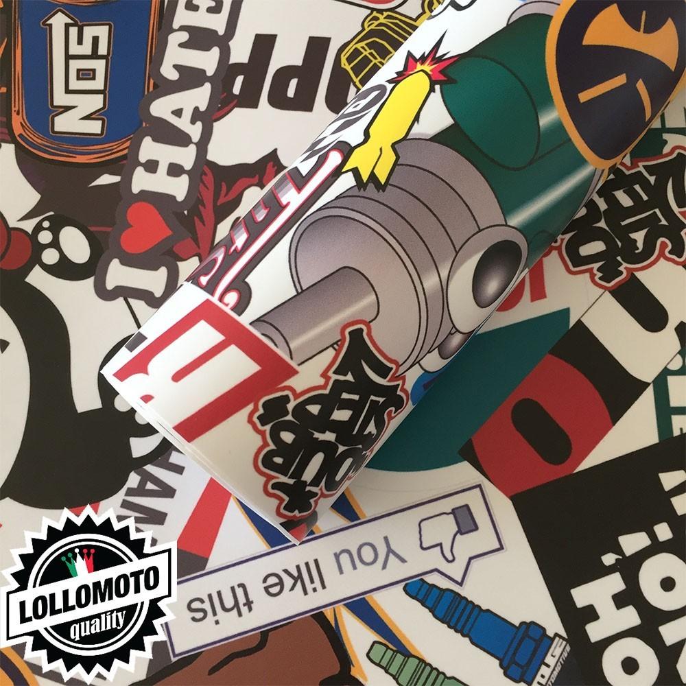 Sticker Bomb 03 Pellicola Adesiva Rivestimento Auto Car Wrapping
