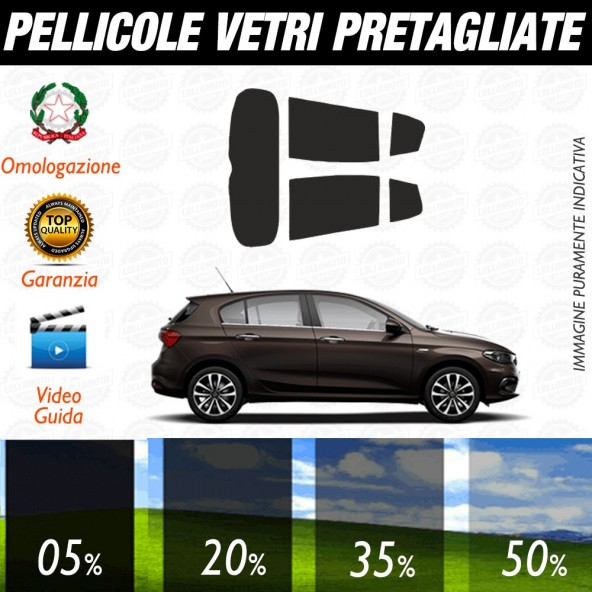 Fiat Tipo Berlina 16-17 Pellicole Oscuramento Vetri Auto Pre Tagliate a Misura