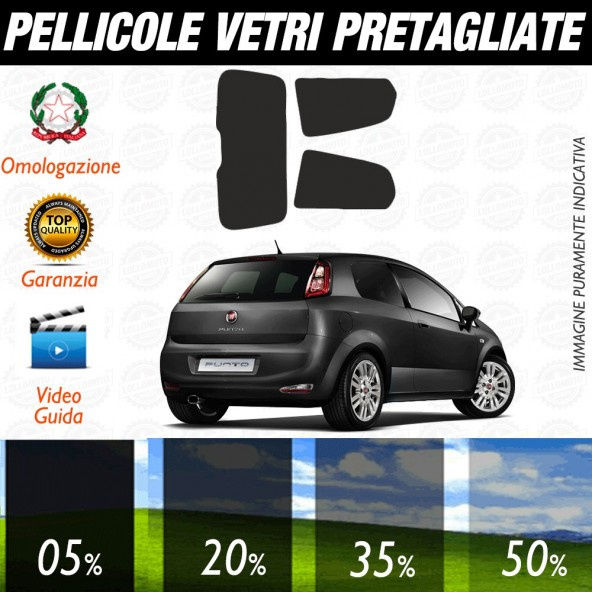 Fiat Tipo 5P 16-17 Pellicole Oscuramento Vetri Auto Pre Tagliate a Misura