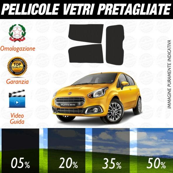 Fiat Grande Punto Evo 3P 06-17 Pellicole Oscuramento Vetri Auto Pre Tagliate a Misura