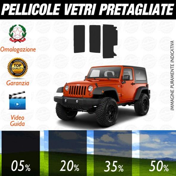 Jeep Wrangler 3P 97-06 Pellicole Oscuramento Vetri Auto Pre Tagliate a Misura