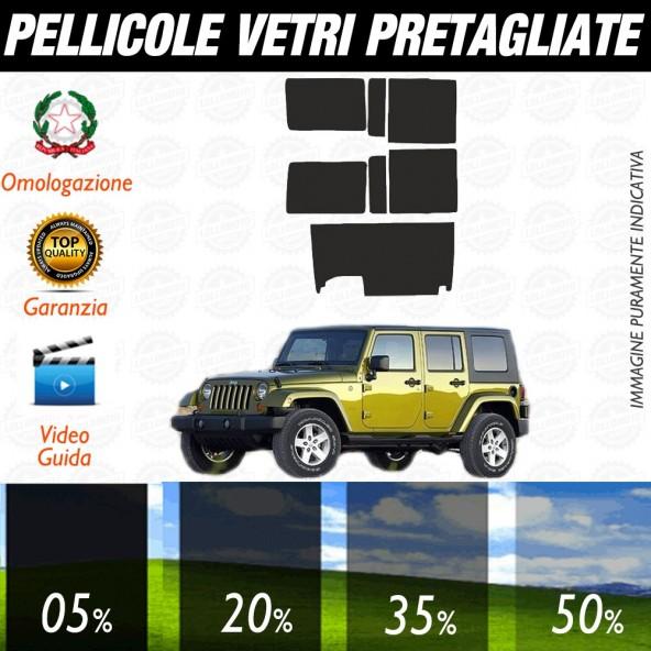 Jeep Wrangler 3P 11-17 Pellicole Oscuramento Vetri Auto Pre Tagliate a Misura
