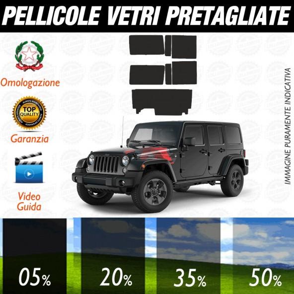 Jeep Wrangler 4P 07-10 Pellicole Oscuramento Vetri Auto Pre Tagliate a Misura