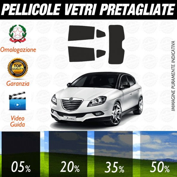 Lancia Y 5P 11-17 Pellicole Oscuramento Vetri Auto Posteriore Pre Tagliate a Misura