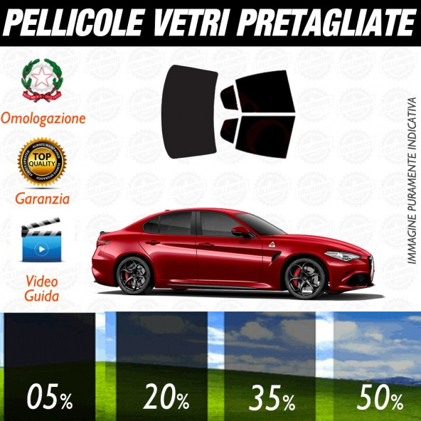 Alfa Romeo Giulietta 10-17 Pellicole Oscuramento Vetri Auto Pre Tagliate a Misura