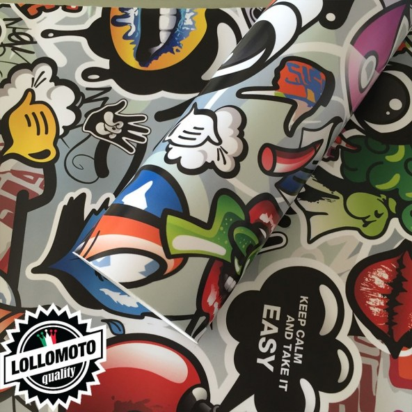 Sticker Bomb 02 Pellicola Adesiva Rivestimento Auto Car Wrapping