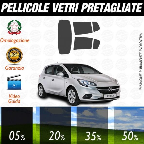 Opel Corsa 3P 16-17 Pellicole Oscuramento Vetri Auto Pre Tagliate a Misura