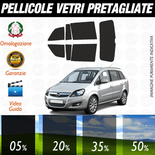 Opel Meriva 10-17 Pellicole Oscuramento Vetri Auto Pre Tagliate a Misura