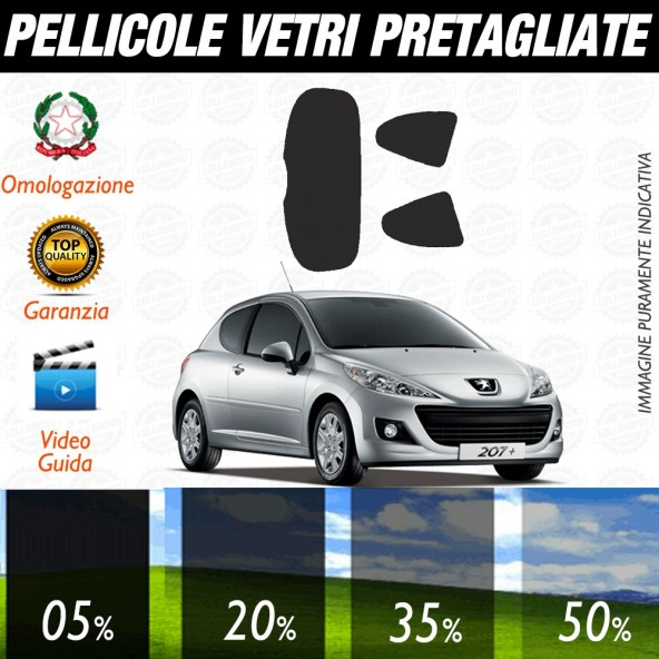 Peugeot 5008 09-16 Pellicole Oscuramento Vetri Auto Pre Tagliate a Misura Posteriore