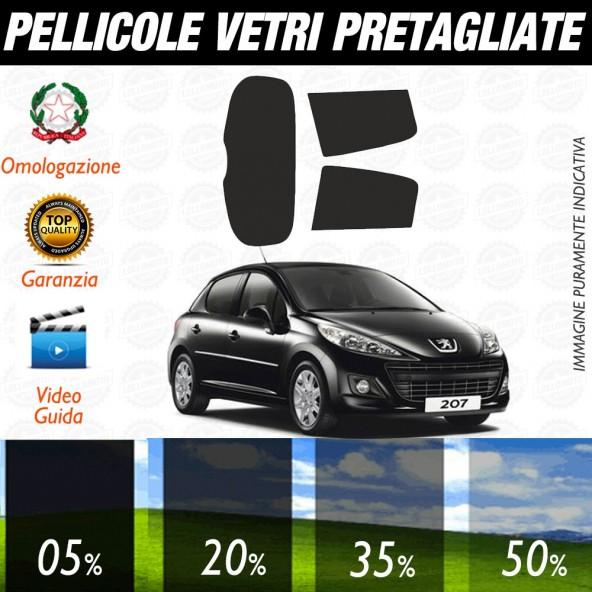 Peugeot 207 3P 06-17 Pellicole Oscuramento Vetri Auto Pre Tagliate a Misura Posteriore