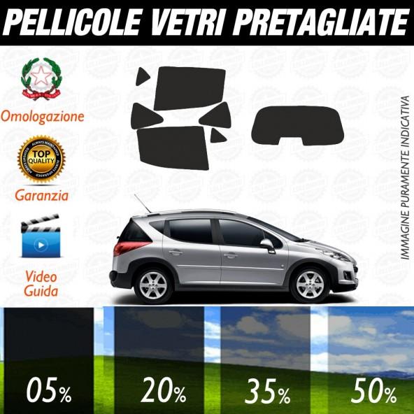 Peugeot 207 5P 06-17 Pellicole Oscuramento Vetri Auto Pre Tagliate a Misura Posteriore