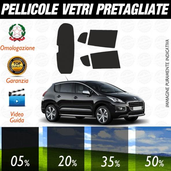 Peugeot 207 Sw 07-17 Pellicole Oscuramento Vetri Auto Pre Tagliate a Misura Posteriore