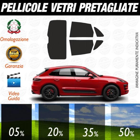 Porsche Panamera 14-17 Pellicole Oscuramento Vetri Auto Pre Tagliate a Misura