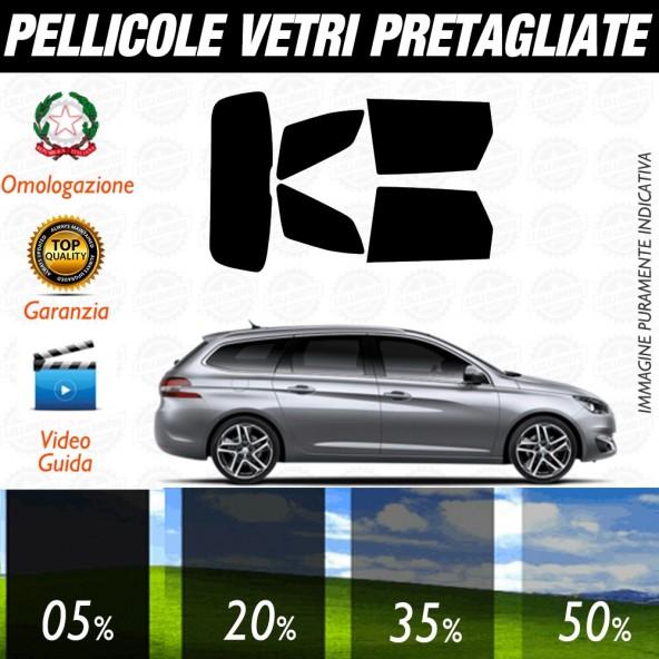Peugeot 308 5P 07-12 Pellicole Oscuramento Vetri Auto Pre Tagliate a Misura Posteriore