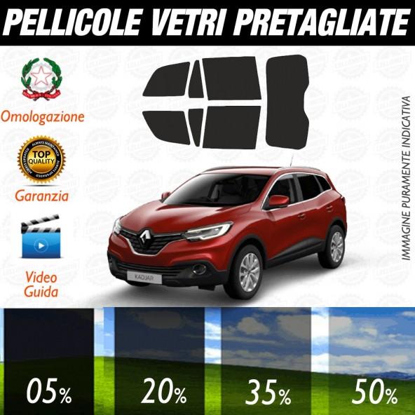 Renault Capture 13-17 Pellicole Oscuramento Vetri Auto Pre Tagliate a Misura Posteriore