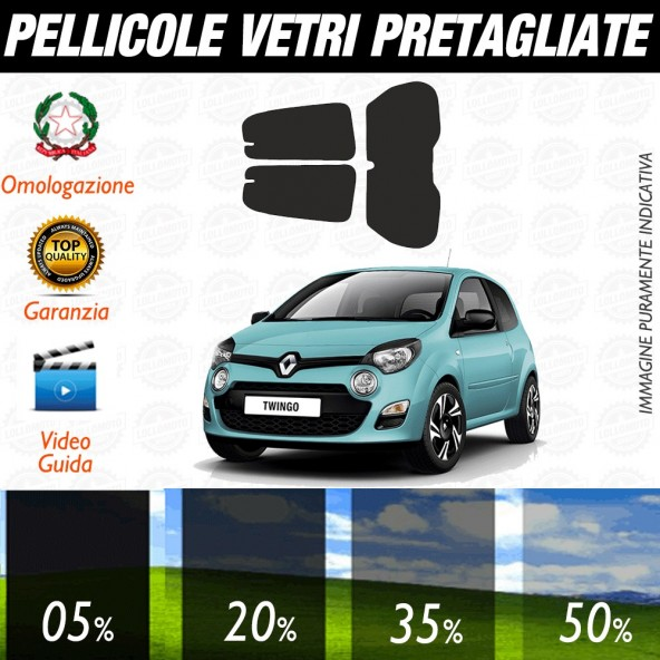 Renault Kadjar 15-17 Pellicole Oscuramento Vetri Auto Pre Tagliate a Misura Posteriore