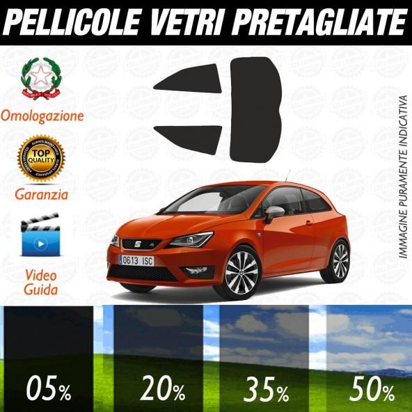 Seat Ibiza 3P 08-17 Pellicole Oscuramento Vetri Auto Pre Tagliate a Misura Posteriore