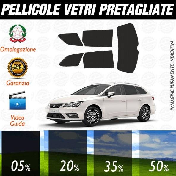 Seat Leon 5P 12-17 Pellicole Oscuramento Vetri Auto Pre Tagliate a Misura Posteriore