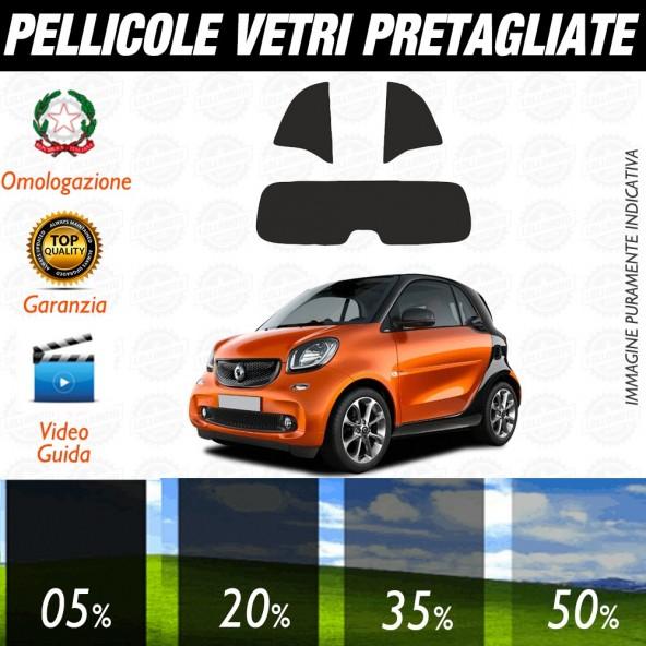 Smart ForTwo 2007-2014 Pellicole Oscuramento Vetri Posteriori Auto Pre Tagliate a Misura