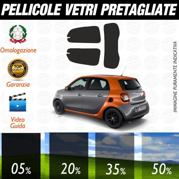 Smart ForTwo 15-17 Pellicole Oscuramento Vetri Posteriori Auto Pre Tagliate a Misura