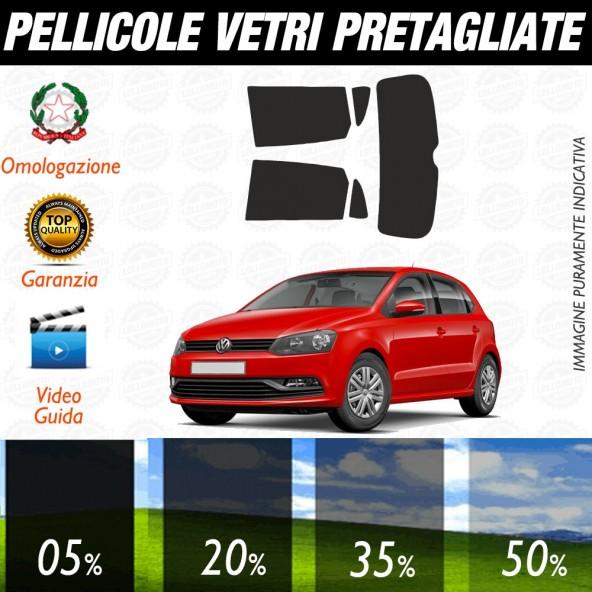 Volkswagen Polo 3P 09-17 Pellicole Oscuramento Vetri Posteriori Auto Pre Tagliate a Misura