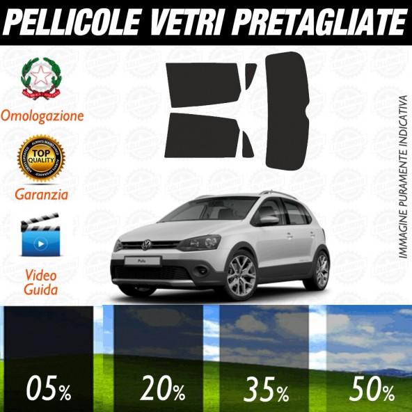 Volkswagen Polo 5P 09-17 Pellicole Oscuramento Vetri Posteriori Auto Pre Tagliate a Misura