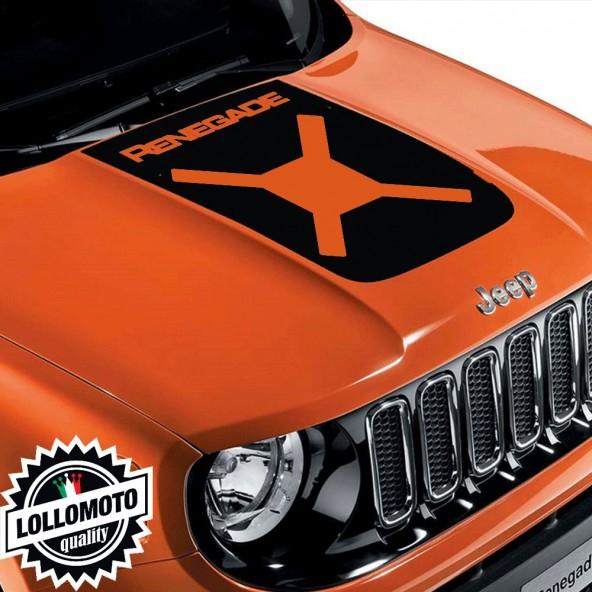 Striscia Adesiva Cofano Jeep Renegade Logo Xx Intagliati Adesivi Stickers Fiancate Aut Decal