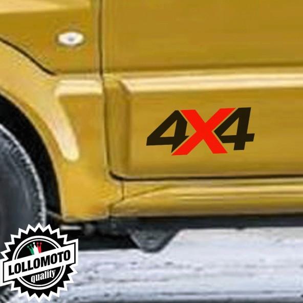 2x Adesivi 4x4 Offroad Fuoristrada Stickers Auto Jeep Moto Decal Intagliato Tuning