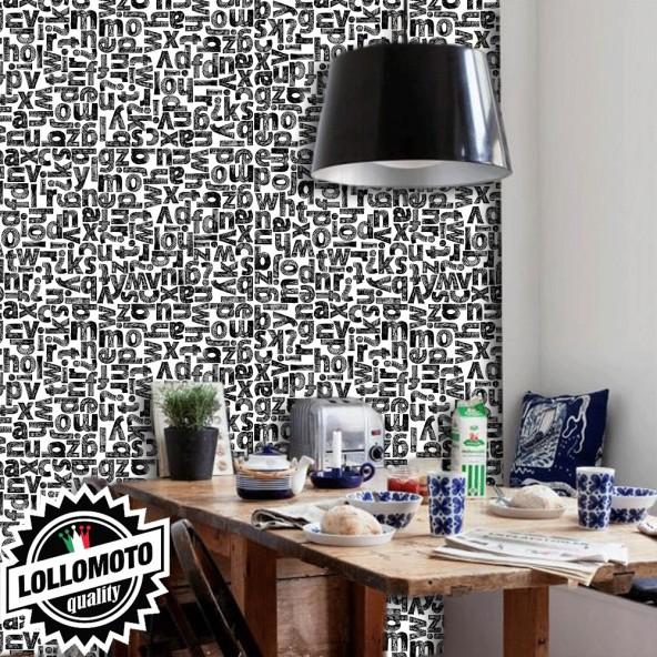 Carta da Parati Gold Decoration Nera Interior Design Arredamento Personalizzato Wall Paper