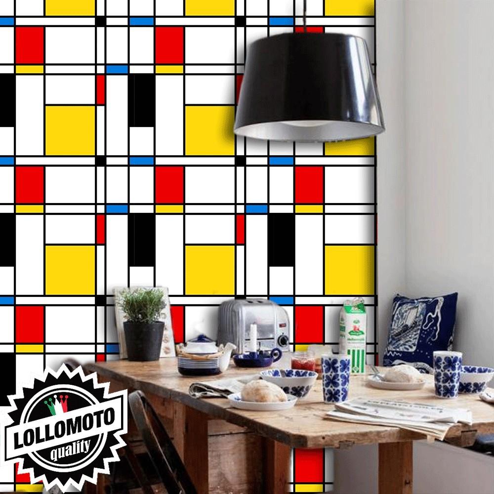 Carta Da Parati Mimetica.Acquista Carta Da Parati Mondrian Art Interior Design Arredamento
