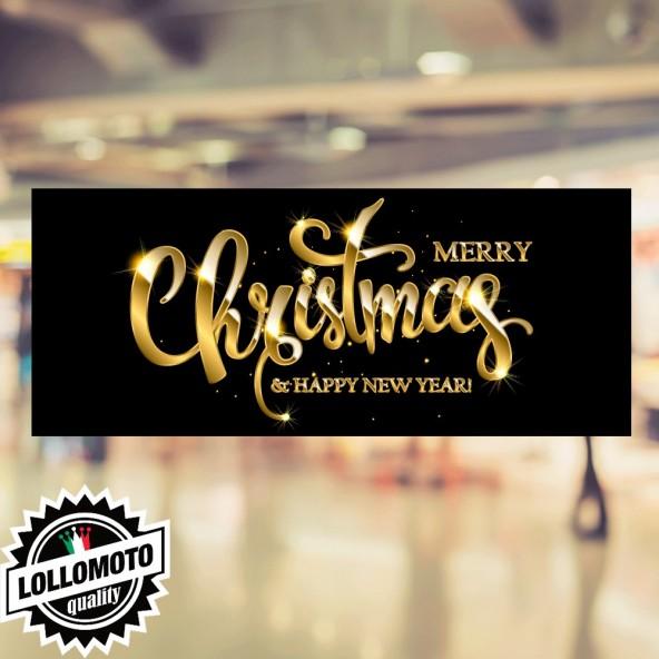 Adesivo Black Christmas Buone Feste Natale Allestimento Decorazione Vetrine Buone Feste Natale Adesivi Stickers Decal