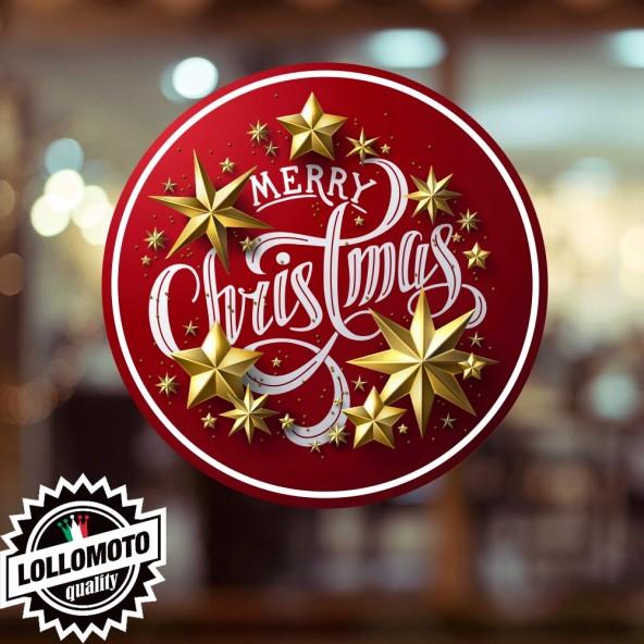 Adesivo Triangle Tree Feste Natale Allestimento Decorazione Vetrine Buone Feste Natale Adesivi Stickers Decal