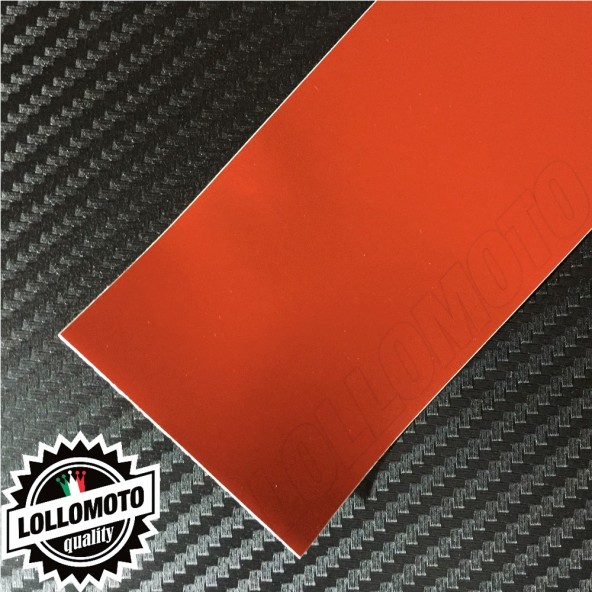 Cromato Rosso Opaco Pellicola Cast Professionale Adesiva